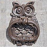 Türklopfer EULE aus Gusseisen antik braun Eisen Uhu für die