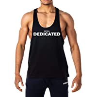GYMTIER Mens - Dedicated Motivation - Stringer Bodybuilding Muscle Vest Tank Top Gym