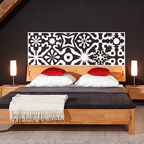 """Vinilo adhesivo para pared de diseño abstracto, con decoración geométrica de círculos para cabecero de cama, vinilo, Blanco, 21""""hx60""""w"""