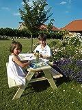 Kindersitzbank Limobank Gartensitzgruppe Holzbank mit Tisch