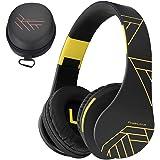 PowerLocus Bluetooth Over-Ear-hörlurar, trådlösa stereohopfällbara hörlurar trådlösa och trådbundna hörlurar med inbyggd mikr