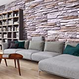 murando - Fototapete Steinoptik 3D 500x280 cm - Vlies Tapete -Moderne Wanddeko - Design Tapete - Steine Stein Steinwand Steinmauer 3D f-A-0466-a-b