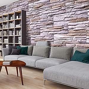 murando fototapete steinoptik 3d 500x280 cm vlies tapete moderne wanddeko design tapete. Black Bedroom Furniture Sets. Home Design Ideas
