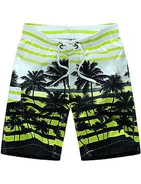 LongYu Pantalones cortos de playa de color sólido de verano nuevos hombres velocidad de surf multicolores XL par...