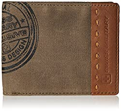 Swiss Military Brown Canvas Wallet (LW-11)