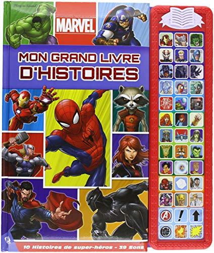 Mon grand livre d'histoires Marvel : 10 histoires de super-héros, 39 sons