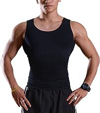 IMAGE Unterhemd ärmelloses -Shirt Shapewear Figurformer Tank top für Männer Brust und Bauch Formen