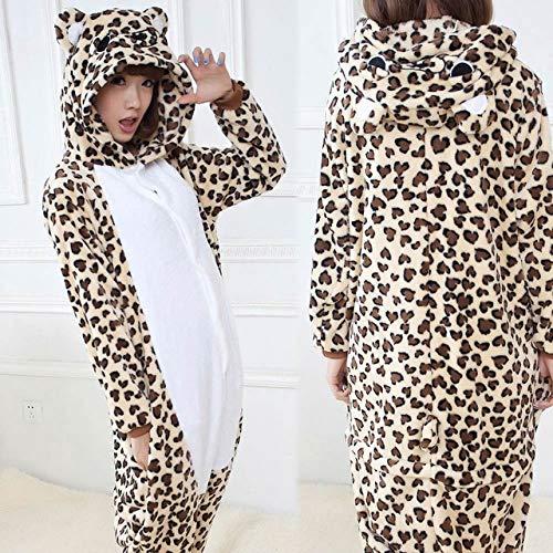 JYLW Damen Schlafanzug Einhorn Pyjamas Sets Tier Pyjamas Winter Einhorn Pyjamas Onesies Ganzes Stück Cosplay Kostüm Nachtwäsche Homewear, Leo Bär, L