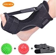 Plantar Fasciitis Night Splint Foot Drop Orthotic Brace, Adjustable Elastic Dorsal Night Splint for Plantar Fasciitis, Achill