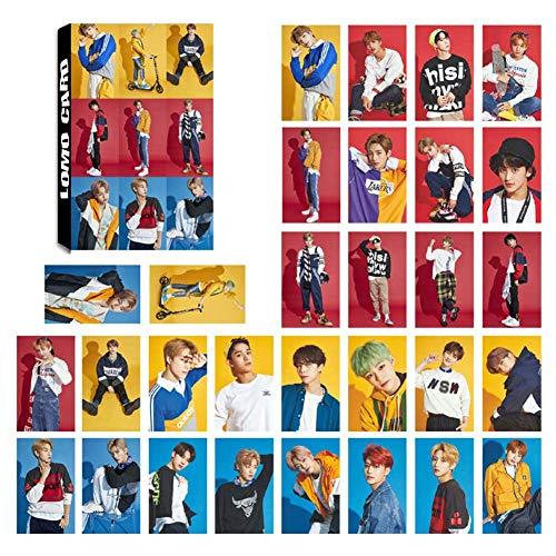 Youyouchard Kpop NCT127 NCT U Fotokarten-Poster Lomo Karten Selbstgemachtes Papier HD Fotokarten-Geschenk-Sammlung, 30 Teile/Set - Poster Set Teile
