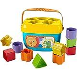 Fisher-Price FFC84 Eerste bouwstenen babyspeelgoed vormsorteerspel met speelkubussen en emmer voor het opbergen vanaf 6 maand