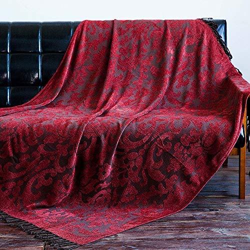 ikanischen Land Freizeit Decke Gobelin Sofakissen Decke Aztec Sofa Handtuch Decke dekorative Decke Bettdecke (Farbe: rot, Größe: 125 * 170 cm) für Sofas ()
