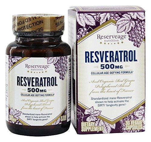 ReserveAge Organics - resveratrolo 500 mg. - 30 capsule vegetariane