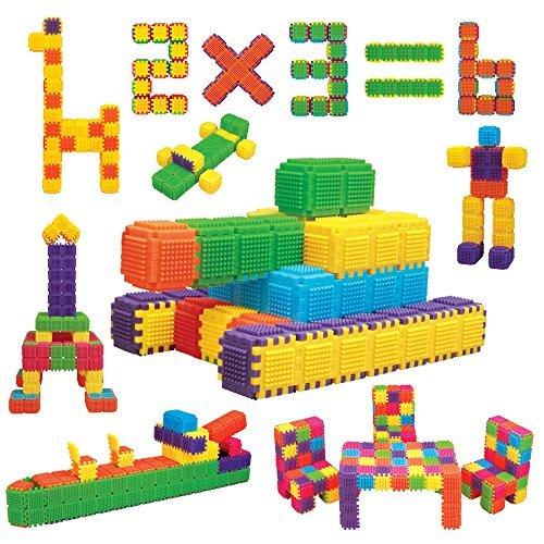 WEofferwhatYOUwant Bausteine Set Feinmotorik Förderung und Spielspaß - 150 Bunte Steckbausteine für Kinder ab 3 Jahren
