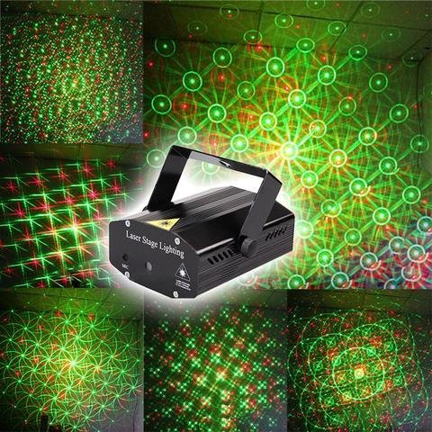 NEW Mini Laser Projector Stage Lighting Sound Activated Laser Light for Party and DJ (NEW 12 different patterns icon in out Laser Projector Stage Lighting for Diwali festival )  available at amazon for Rs.799