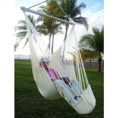 Fair trade grande flamenco-tissé avec repose-pieds avec barre fauteuil coton equitable bio