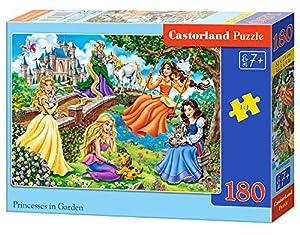 Castorland Princesses in Garden 180 pcs Puzzle - Rompecabezas (Puzzle Rompecabezas, Dibujos, Niños, Chica, 7 año(s), Interior)