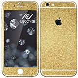 Urcover Apple iPhone 7 Plus Glitzer-Folie zum Aufkleben | Folie in Gold | Zubehör Glitzerhülle Handyskin Diamond Funkeln Schutzfolie Handy-schutz Luxus Bling Glamourös