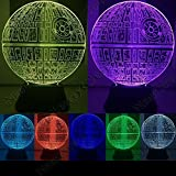 Newcom Amazing Optische Illusion 3D Deco LED-Lampe/Nachtlicht, 7verschiedene Farbe ist verstellbar (Coruscant)