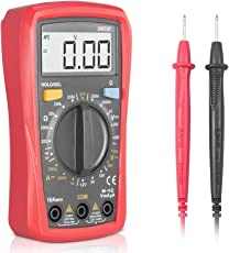 Multimeter, Synerky DM33B Digital-Multimeter Handbuch Range Multi Tester 2000 zählt AC / DC-Spannung DC-Strom Widerstand Buzz Diode Kontinuität Elektronische Messgerät-Tool / hintergrundbeleuchtete LCD-Display