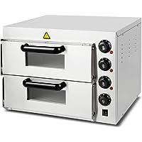 Vertes four à pizza electrique professionnel (3000 watt, régulation de température 0°C à 350°C, contrôle séparé de la…