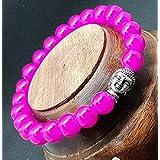 Affaires Semi Precious Stone Yoga & Meditation Buddha Reiki Healing Beads Diffuser Beads Bracelets Unisex Color Pink ( B-7 )