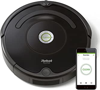 iRobot Roomba 671, Aspirateur Robot pour Tapis et Sols Durs, Capteurs de Poussière Dirt Detect, Système de Nettoyage en 3 Étapes, Connecté en WiFi et Programmable via Application