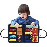 Montessori Bebe Planches d'apprentissage Panneau De Feutre d'apprentissage pour Apprendre À Zipper, Bouton, Boucle - Planche