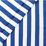 Liegestuhlstoff Outdoorstoff Stoff Breite 45 cm Blockstreifen Meterware Blau-Weiss