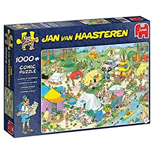 Jumbo in The Forest pcs Jan Van Haasteren-Puzzle de 1000 Piezas para Camping en el Bosque, Multicolor (19086)