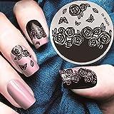 Weicici 30 Arten DIY Nail Art Schablonen Runde Edelstahl Stamping Platten Spitze Blume Muster Vorlage