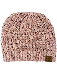 98aaae35794 ... Funky Junque. H-6033-71 Confetti Knit Beanie - Indi Pink