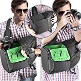 Neewer Kamera Schlinge Rucksack Hülle 9.8x7.9x16.9 Inch/24.9x20x42.9 Zentimeter wasserdicht leicht und langlebig für DSLR und spiegellose Kamera (Canon Nikon Sony Pentax Olympus Fujifilm Panasonic) Grün Vergleich