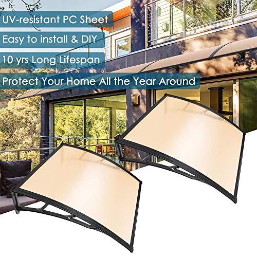 yescom 200,7x 101,6cm Tür Fenster Outdoor Vorzelt 2ganze Hollow Polycarbonat Blatt UV Regen Schnee Schutz -