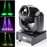 UKing Moving Head LED-discolamp, 50 W, DMX 512, RGBW lichteffecten, 8 GOBO, 8 kleuren, 9/11 kanalen, voor DJ, partyverlichtin