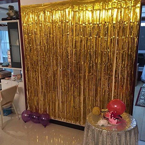 cortina de papel para fiestas festivales cumplea os decoraci n de hogar escuela hotel oro. Black Bedroom Furniture Sets. Home Design Ideas