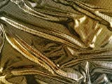 Tessuto stretch, stampa laminata (foilprint), dorato, 145cm