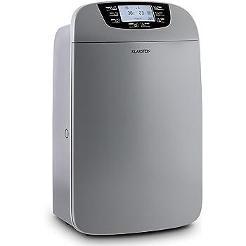 Klarstein Drybest 40 • deumidificatore 2 in 1 • depuratore d'aria • deumidificatore elettrico • 40 litri/24 h • 600 W • purificatore aria con filtro a carbone attivo / HEPA • 35-42 m² • Grigio scuro