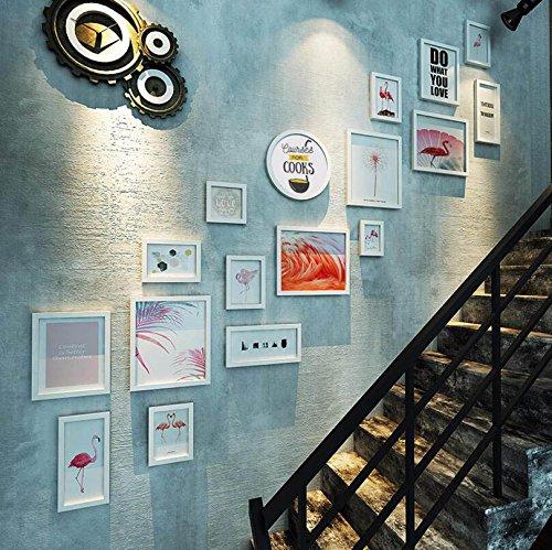 PLYJ Fotorahmen Foto Wall- Stair Wanddekoration – Wohnzimmer/Restaurant / Sofa Hintergrund Wand – Kann beliebig kombiniert und installiert Werden