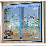 Fenster-bildschirme mücke resistente,Magnetische tür full-frame-selbstklebende velcro abnehmbare bildschirm tür siebgewebe-B 180x180cm(71x71inch)