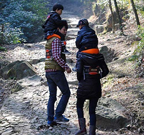 Shoulder Carrier Seat Saddle with Ankle Straps Cozy Seat and All-Direction Safety Protection for Child for Hiking Trails, Camping, Fitness Travel  Designed for Children 2-5 Years Hands-Free:Shoulder Carrier,Reduce the pressure on the your hands. Adjustable:Fits chest sizes ergonomic waist belt. 5