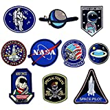 LAKIND 10PCS Parches NASA Termoadhesivo para la Ropa (10pcs)