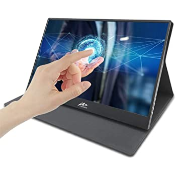 "15.6 "" Monitor portátil con Touch, Kenowa Ultra-delgado IPS FULL HD 1920*1080 Display con puerto Dual Type-c (USB-C),Dual USB,HDMI,Auricular para Smartphone Window 7 8 10 OS Laptop PS3 PS4,etc"