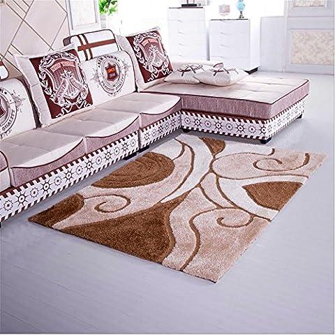 New day-Cifrado super suave manta alfombra Corea del sur alfombra de seda seda stretch dormitorio sala de estar estudio alfombra , 8 ,