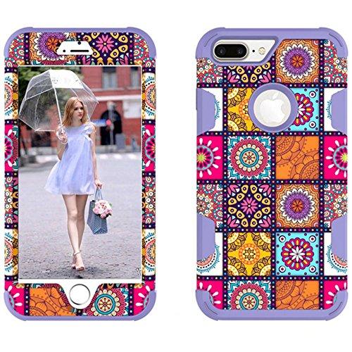 iPhone 66S case, Xinrd Heavy contro lo sporco antiurto durevole protezione sigillata piena copertura e protezione schermo per Apple iPhone 66S 11,9cm viola