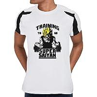 Cloud City 7 Dragon Ball Z Training to Go Super Saiyan Men's Contrast Training T-Shirt