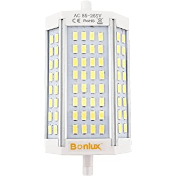Bonlux 30W regulable R7s 118mm lineal LED Tubo blanco fresco 6000K 200 Degrees super brillante J