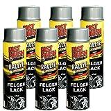Motip Dupli - Fast Finish Felgenlack silber Autolack Rallye Spraydose 500ml 6 Stück