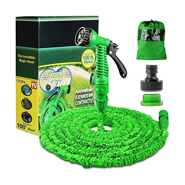 100FT-Expanding-Garden-Water-Hose-Pipe-with-7-Function-Spray-Gun-Expandable-Flexible-Magic-Hose-Anti-leakage-Lightweight-Easy-Storage-Green