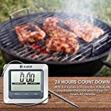 Habor Grillthermometer Bratenthermometer Ofenthermometer Barbecue Grill Thermometer digital Thermometer, °C /°F einstellbar , großen LCD Display, lange 304 Edelstahl Messfühler , 1m Kable und Count Down Timer, für Garten Grillen, Backen, Ofen usw Vergleich